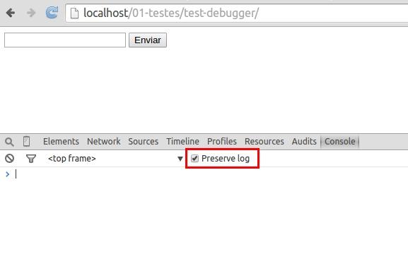 Console - Preserve log