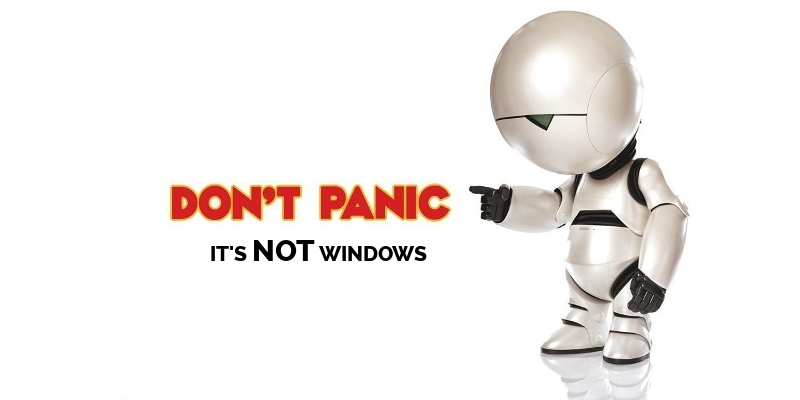 Don't Panic - It's not Windows