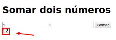 "Somar ""1"" e ""2"" é igual a ""12"""